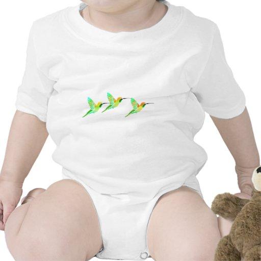 Colibríes del sorbete de la cal del limón trajes de bebé
