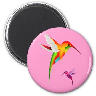 Colibríes hermosos (Colibri) Imán Redondo 5 Cm