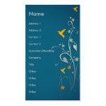 colibríes preciosos y diseño floral del remolino tarjetas de visita