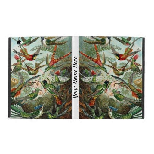 Colibríes vibrantes y coloridos de Ernst Haeckel iPad Funda
