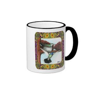 Colibríes y flores #3 taza de café