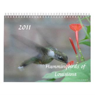 Colibríes y flores de Luisiana Calendario