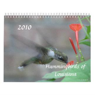 Colibríes y flores de Luisiana Calendarios De Pared