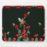 Colibríes y rosas tapetes de ratones