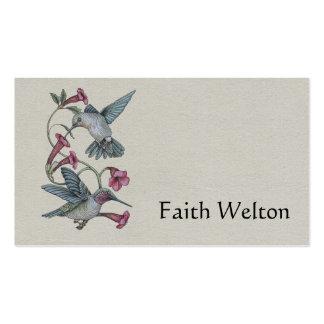 Colibríes y vid tarjetas de visita
