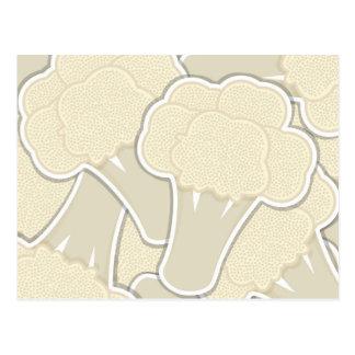 Coliflor enrrollada tarjeta postal