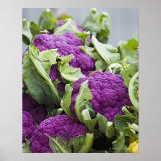 Coliflor púrpura poster