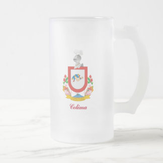 Colima Frosted Glass Beer Mug
