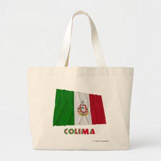 Colima que agita la bandera oficiosa bolsa de mano