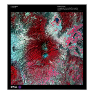 Colima Volcano Mexico Poster