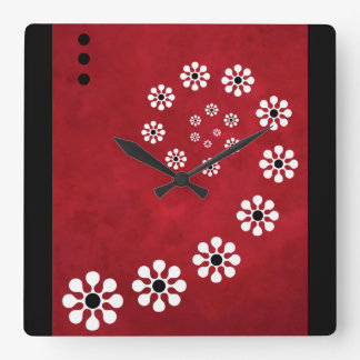 Colimacon Red - Modern Wall Clock