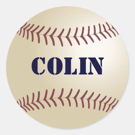 Colin Baseball Stickers