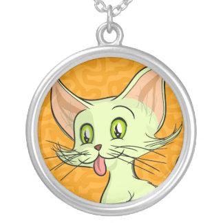 Colin Cat Round Pendant Necklace