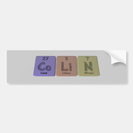 Colin-Co-Li-N-Cobalt-Lithium-Nitrogen.png Bumper Sticker