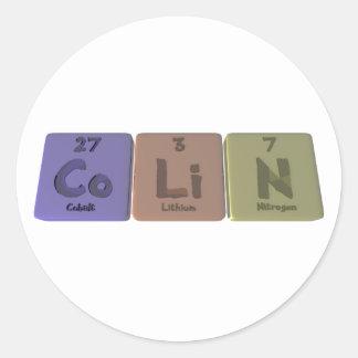 Colin-Co-Li-N-Cobalt-Lithium-Nitrogen.png Classic Round Sticker
