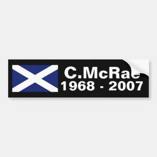 Colin McRae memorial sticker Car Bumper Sticker