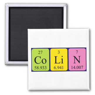 Colin periodic table name magnet