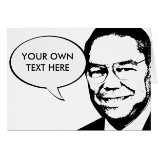 Colin Powell Greeting Card