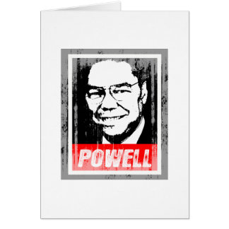 COLIN POWELL INK BLOCK.png Greeting Card