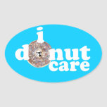 Colin's Face on Everything Donut Other Stuff Oval Sticker