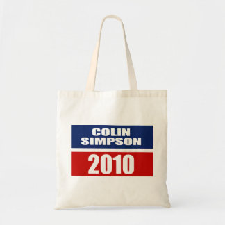 COLIN SIMPSON FOR GOVERNOR TOTE BAGS