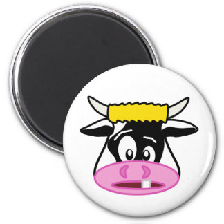 Colin the Crazy Cow Cartoon 2 Inch Round Magnet