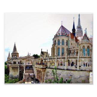 Colina Budapest del castillo Impresion Fotografica