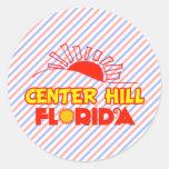 Colina de centro, la Florida Etiquetas Redondas