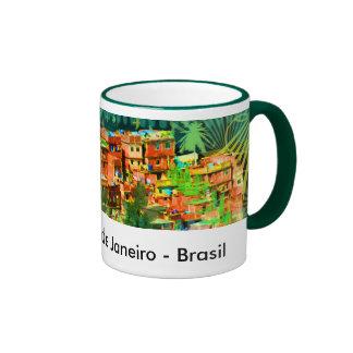 Colina de Favela Taza De Café