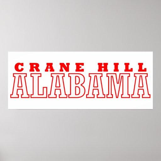 Colina de la grúa, diseño de la ciudad de Alabama Póster