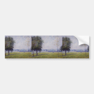 Colina de la primavera de Camilo Pissarro-, el par Etiqueta De Parachoque