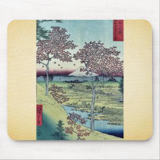 Colina de la puesta del sol por Ando, Hiroshige Alfombrilla De Ratón