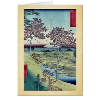 Colina de la puesta del sol por Ando, Hiroshige Felicitaciones