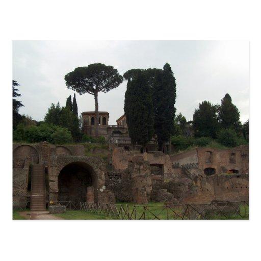 Colina de Palatine en Roma, Italia Postal