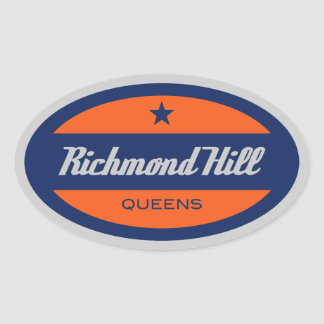 Colina de Richmond Pegatina Ovalada