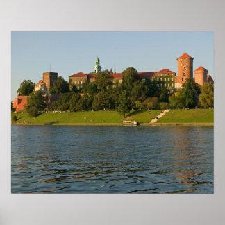 Colina de Wawel con el castillo y la catedral real Póster
