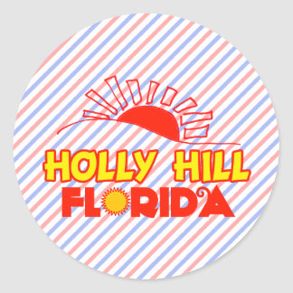 Colina del acebo, la Florida Pegatina Redonda