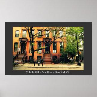 Colina del adoquín - Brooklyn - New York City Posters