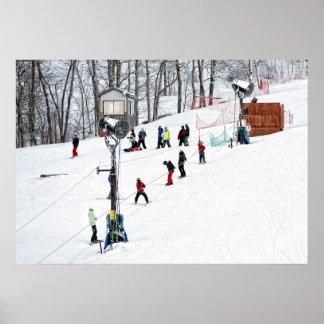Colina del esquí posters