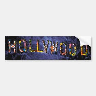 Colina del Hippie de Hollywood Pegatina Para Auto