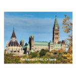 Colina del parlamento en el otoño, Ottawa Postales