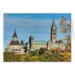 Colina del parlamento en el otoño, Ottawa Tarjeta De Felicitación
