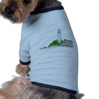 Colina del telégrafo de San Francisco 1986 el MUSE Camiseta Con Mangas Para Perro