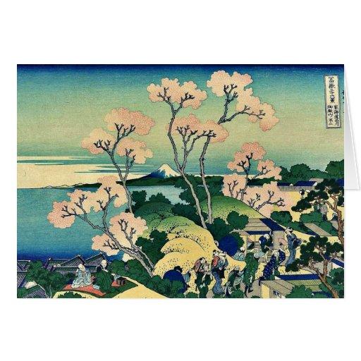 Colina del yama de Goten, Shinagawa por Katsushika Tarjeta De Felicitación
