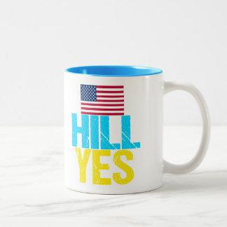 Colina Hillary Clinton sí moderna Taza De Dos Tonos