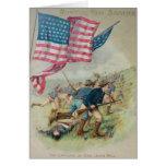 Colina Roosevelt de San Juan de la bandera de los Tarjeta De Felicitación