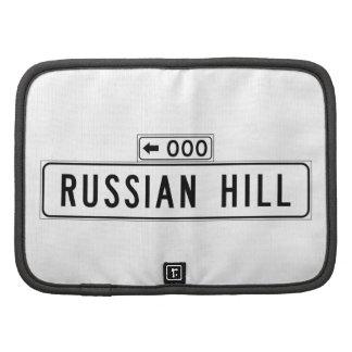 Colina rusa, placa de calle de San Francisco Planificador