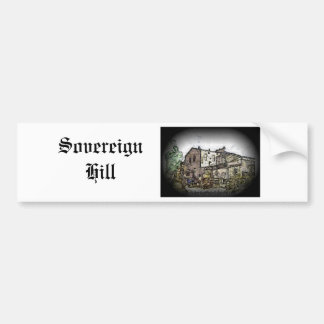 Colina soberana etiqueta de parachoque