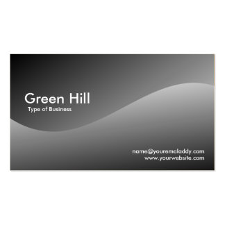 Colina verde 3 tarjetas de visita