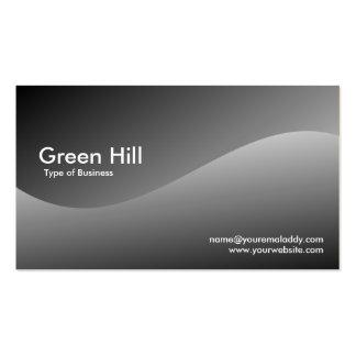 Colina verde 3 plantilla de tarjeta de negocio
